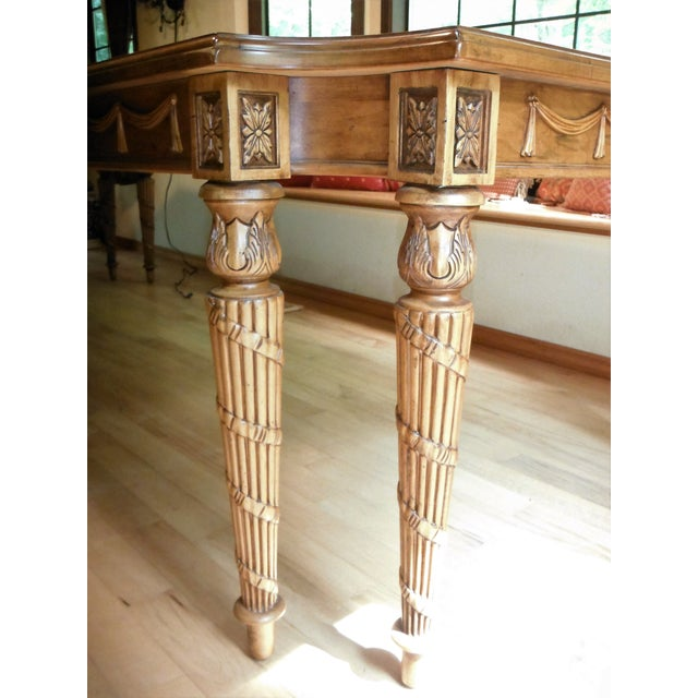 Century Furniture Traditional Carved Dining Table - Image 4 of 7