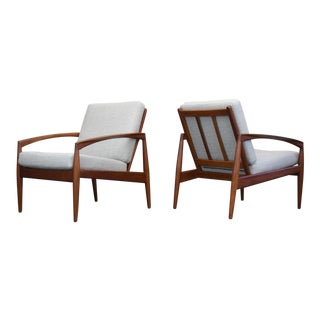 Kai Kristiansen for Magnus Olesen Danish Teak Lounge Chairs, Restored - a Pair For Sale