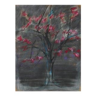 Cherry Blossom Tree in Pastel, 20th Century