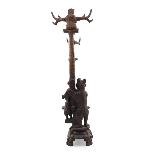 Rustic Black Forest Style '20th Century' Hatrack/Umbrella Stand For Sale - Image 4 of 9