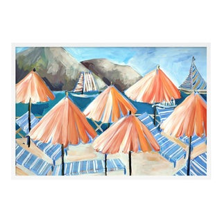 Cabana 3 by Lulu DK in White Framed Paper, Large Art Print For Sale