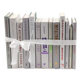 Light Gray Book Bundle For Sale