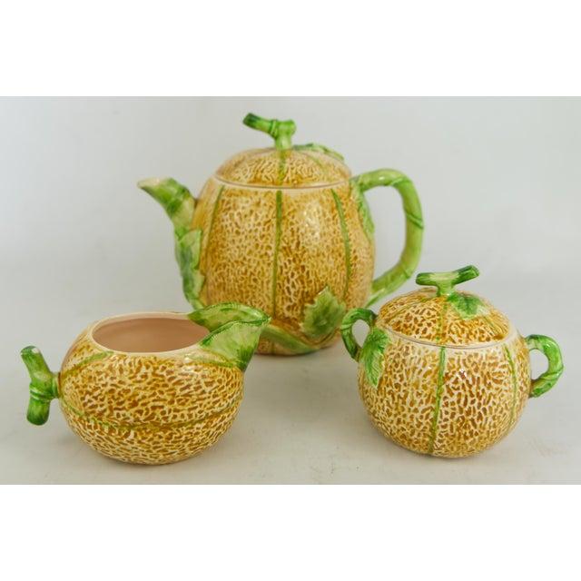 1982 Haldon Group Melon Tea Set - 3 Pieces For Sale - Image 11 of 11
