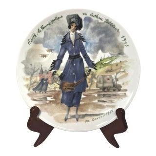 """Limoges Les Femmes Du Siecle, """"Edith"""" Decorative Plate"""
