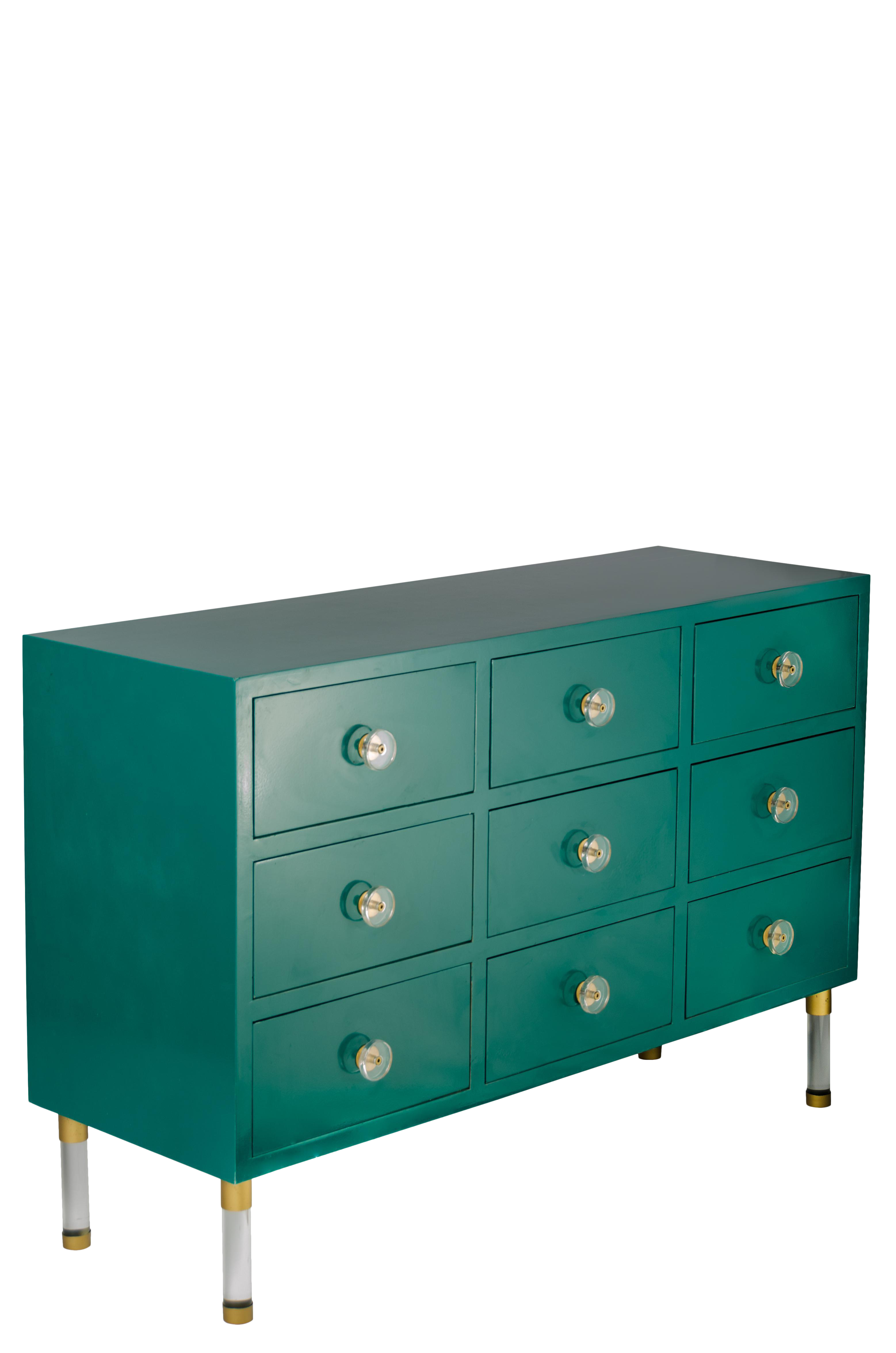 Green Modern Entry Table For Sale