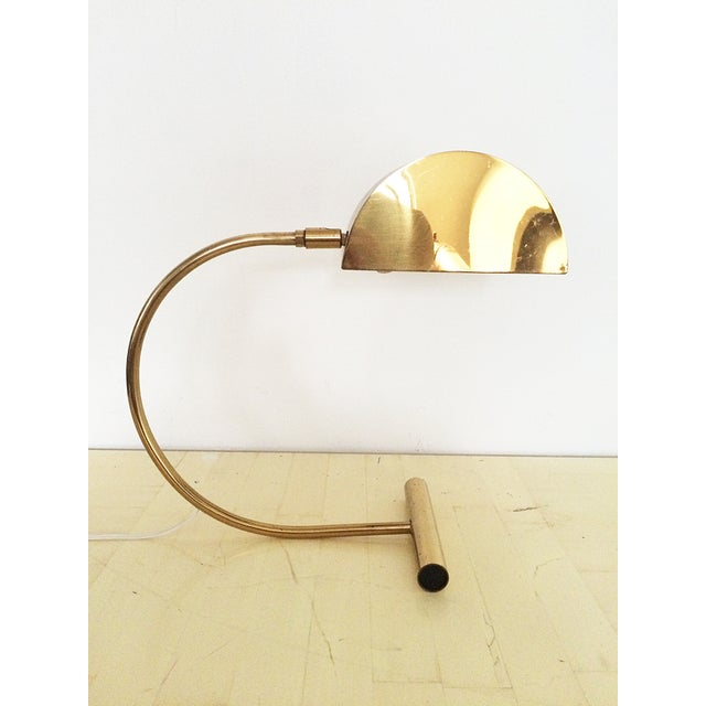 Koch and Lowy Brass Demilune Table Lamp - Image 7 of 11