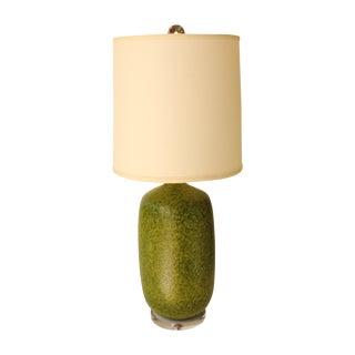 "Avocado ""Orange Peel"" Textured Table Lamp For Sale"