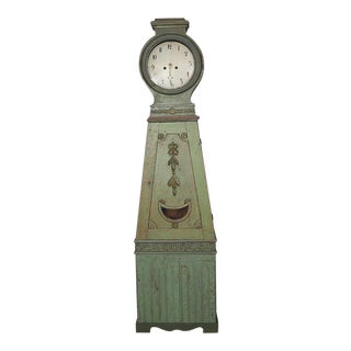 Swedish Tallcase Grandfather Clock Circa 1800 For Sale