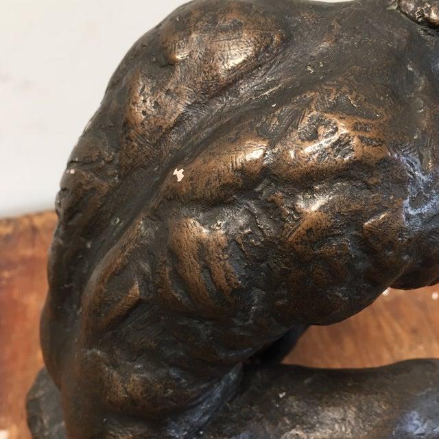 Austin Prod. 1964 Rodin Thinker Statue - Image 9 of 11