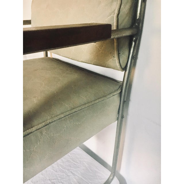 1930s Streamline Moderne Tubular Nickel Plated Armchairs - A Pair For Sale In Baltimore - Image 6 of 8