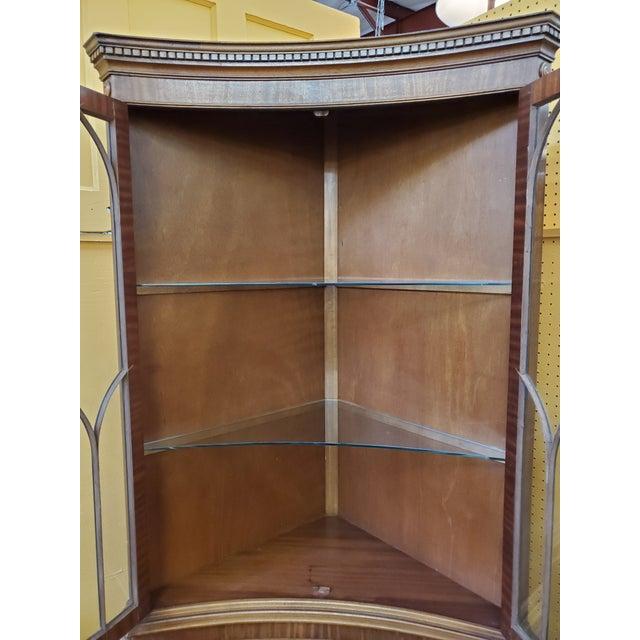 Vintage Mahogany Corner Cabinet For Sale - Image 9 of 13