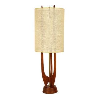 1960s Sculptural Teak Lamp by Modeline For Sale