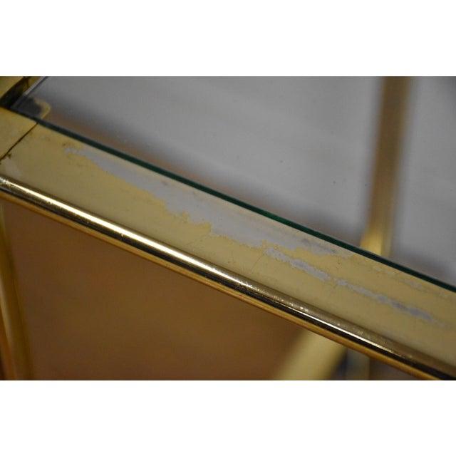 Hollywood Regency Brass Bar Cart - Image 8 of 11