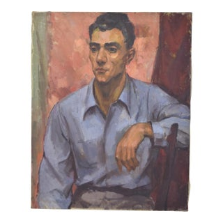 1940's Oil Painting Portrait of Man For Sale
