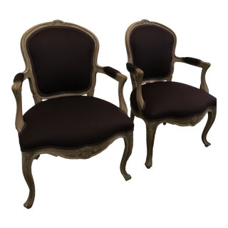 Antique Louis XV Style Chairs - a Pair For Sale