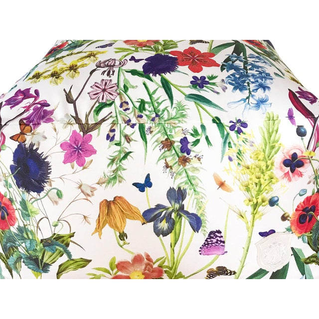 Abstract Floral Fantasy Pouf For Sale - Image 3 of 5