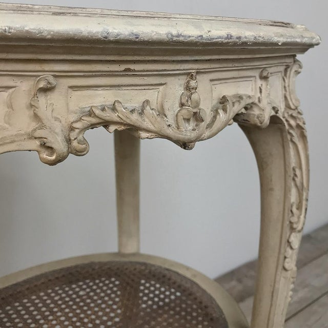 Brown 19th Century French Louis XVI Painted Oval End Table For Sale - Image 8 of 13