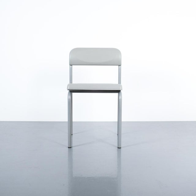 One of Seven Ettore Sottsass Greek Chairs Grey Bieffeplast, Italy, 1980 For Sale - Image 6 of 13