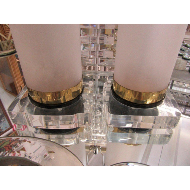 Brass & Lucite Bauer Lamps - A Pair - Image 5 of 8