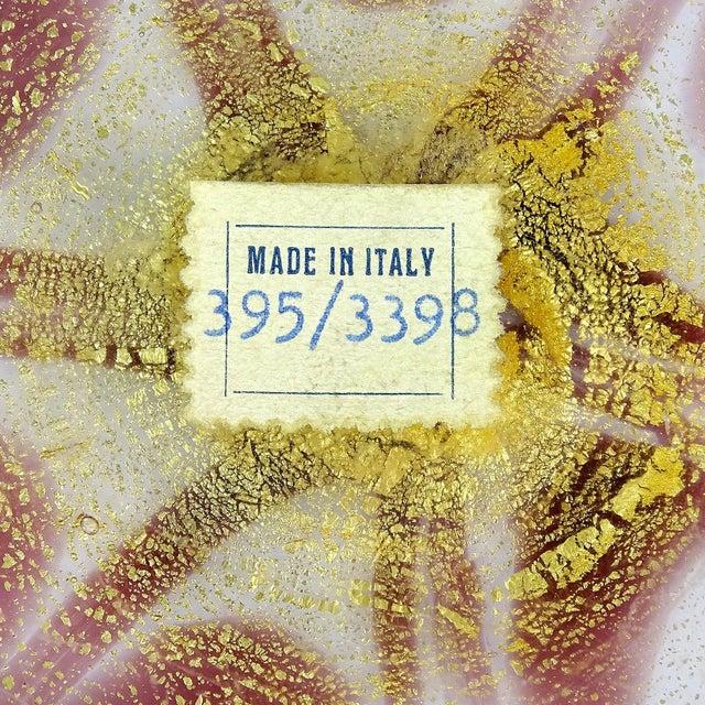 Mid 20th Century Murano Purple Pulled Feather Gold Flecks Italian Art Glass Vanity Powder Box, Mid Century For Sale - Image 5 of 6