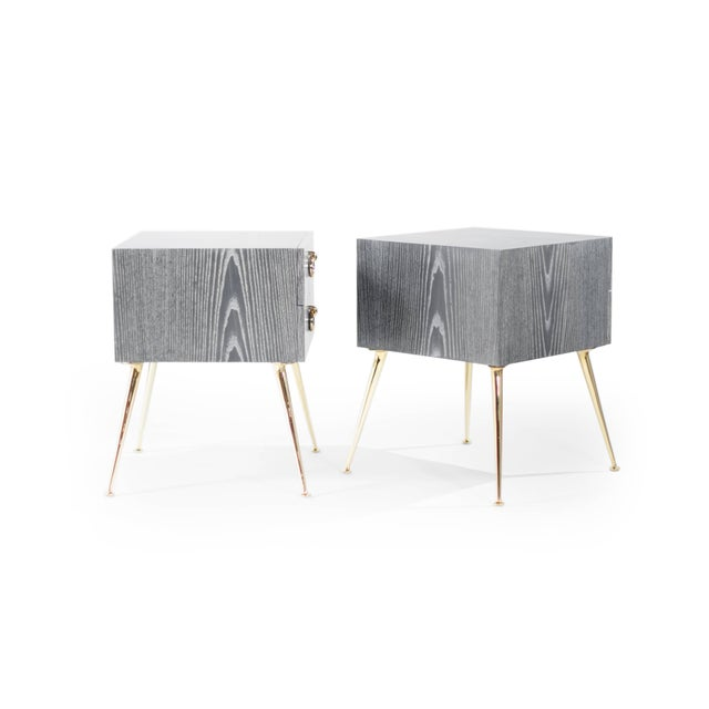 Early 21st Century Gibby Collection End Tables in Limed Oak For Sale - Image 5 of 11