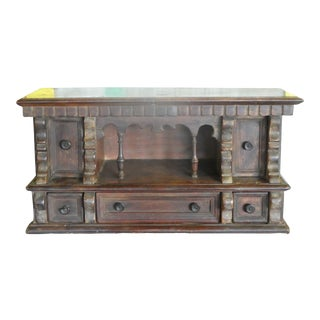 17th Century Italian Tuscan Baroque Desk Top Letter Cabinet For Sale