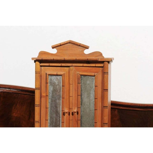 French Antique French Miniature Pine Armoire For Sale - Image 3 of 10