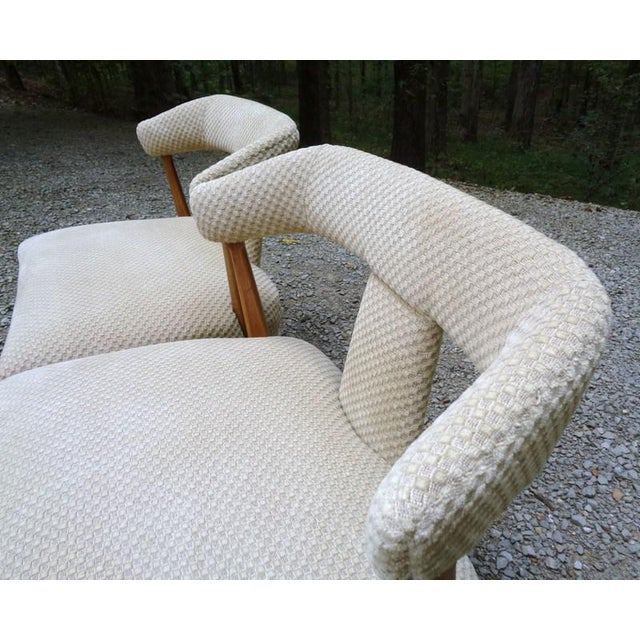 Mid Century Tomlinson Sophisticate Slipper Chairs ~ a Pair For Sale In Nashville - Image 6 of 13