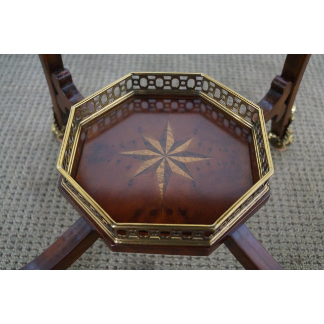 Maitland Smith Louis XV Style Brass Ormolu Side Table - Image 8 of 10