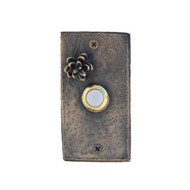 Cabin Rectangle Western Hemlock Doorbell For Sale - Image 3 of 5