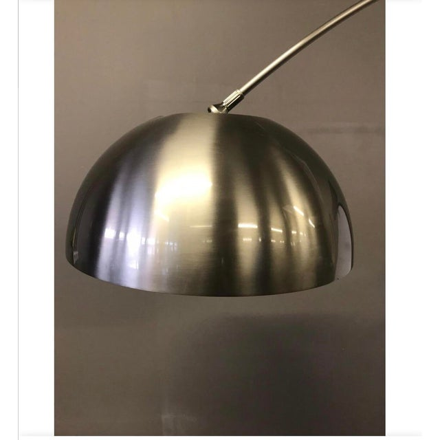2000 - 2009 Mid-Century Space Age Chrome Arc Floor Lamp For Sale - Image 5 of 8