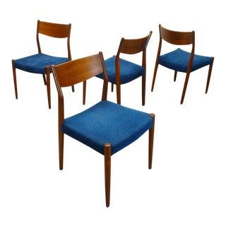 Mid Century Danish Modern Fristho Franeker Teak Dining Chairs- Set of 4 For Sale