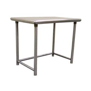 Vintage Industrial Stainless Steel Writing Desk