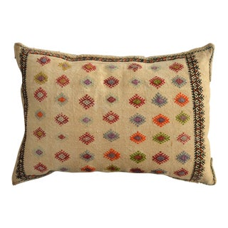 Vintage Hand Woven Kilim Pillow Cover Cotton Decorative Bedding Pillow - 32ʺ X 22ʺ For Sale