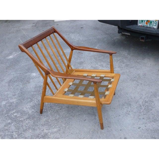 1950's Vintage Jason Ringsted Danish Modern Rosewood & Teak Armchair For Sale - Image 11 of 11