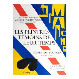 Henri Matisse, Les Peintres Temoins De Leur Temps, 1959, Lithograph For Sale