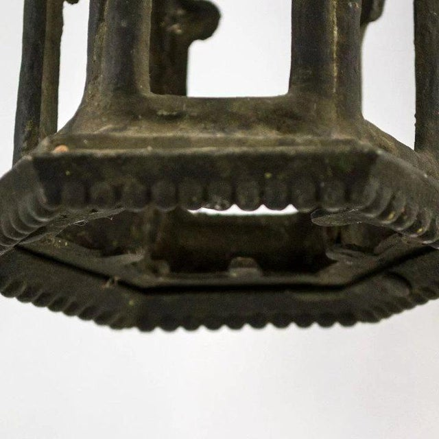 1920s 1920's American Cast Iron Garden Lantern For Sale - Image 5 of 5