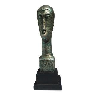 Vintage Austin Productions Modernist Bust After Modigliani
