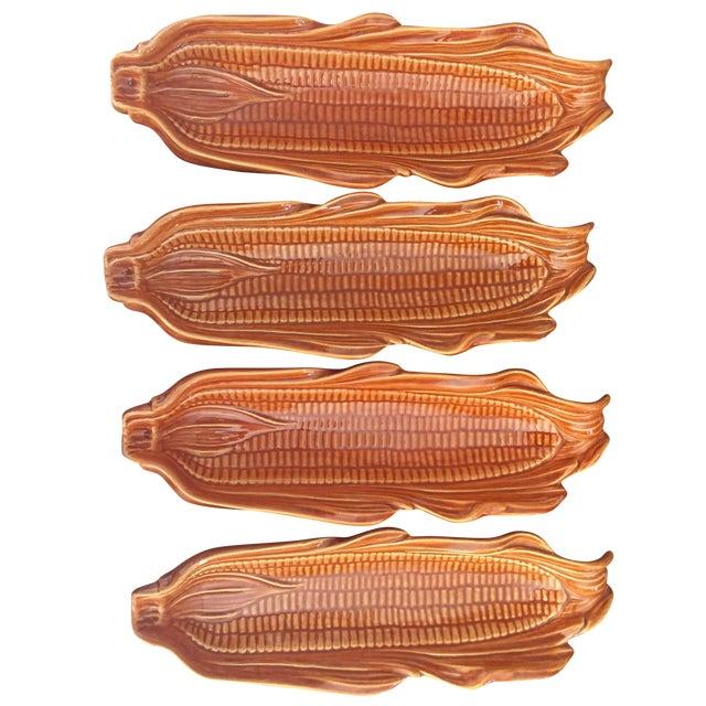 Corn on the Cob Serving Dishes - Set of 4 - Image 1 of 7
