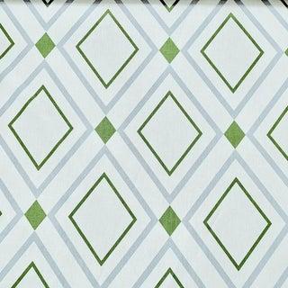 Contemporary Victoria Hagan Diamond Lights Linen Designer Fabric by the Yard For Sale