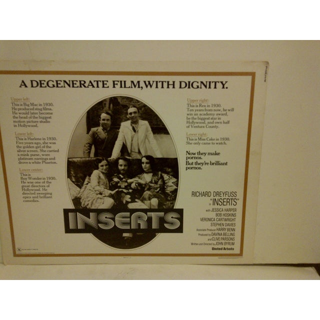 """Vintage Movie Poster """"Inserts"""" 1976 For Sale - Image 4 of 5"""