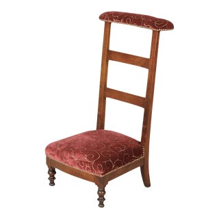 Country French Napoleon III Period Ladder Back Prie Dieu or Prayer Chair For Sale