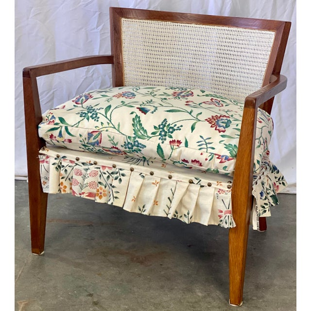 Mid Century Modern Walnut Caned Birdseye Chair For Sale - Image 9 of 9