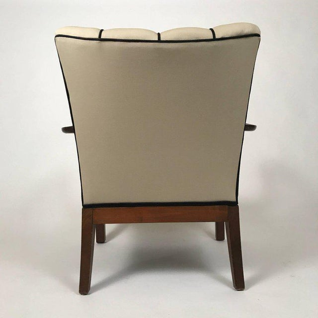 Danish Modern Mahogany Open Armchairs - a Pair For Sale - Image 4 of 6