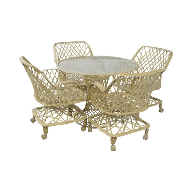 Russell Woodard Spun Fiberglass Table & Chairs - Set of 5 For Sale - Image 11 of 11