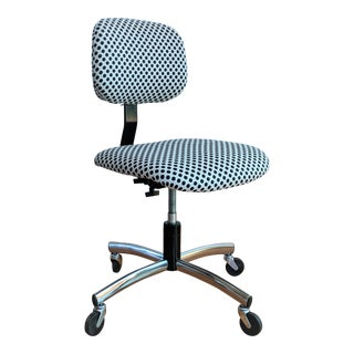 Black & White Vintage Office Chair For Sale