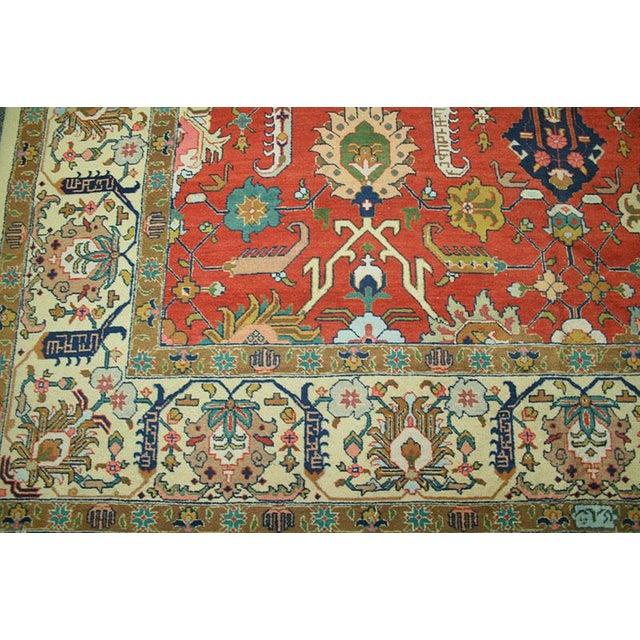 "Antique Signed Decorative Persian Tabriz Rug - 9'6"" x 12'11"" - Image 4 of 6"