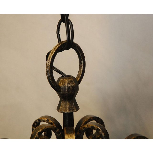 Wrought Iron Lanterns - A Pair For Sale - Image 4 of 10