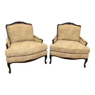 Calico Corners French Louis XV Bergere Chairs- a Pair For Sale