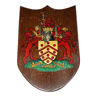 Mid-Century English Fraternity House Coat of Arms For Sale